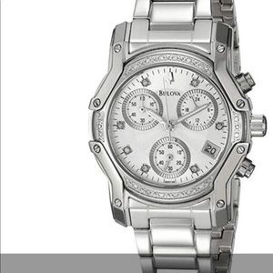 Bulova diamond dial watch